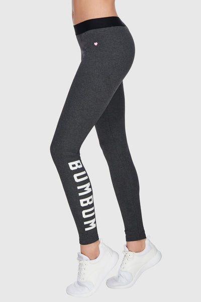 COMFY TIGHTS BUMBUM PRINT - DARK HEATHER