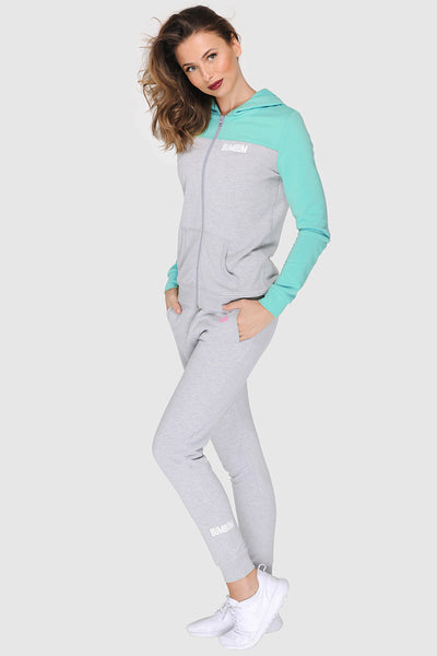 TWO TONE SPRING ZIPPER - FRESH MINTY