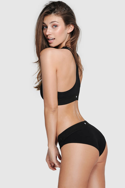 COMFY BRIEFS - PURE BLACK