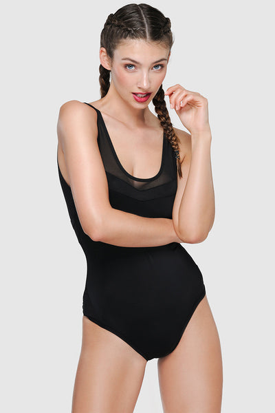 ALL BLACK SWIMSUIT - PURE BLACK