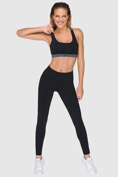 CROSSBACK SPORTS BRA - PURE BLACK