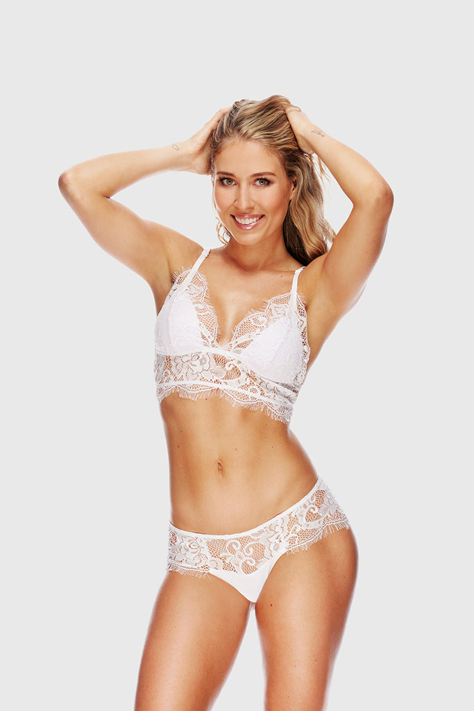ROMANTIC LACE BRALETTE - WHITE