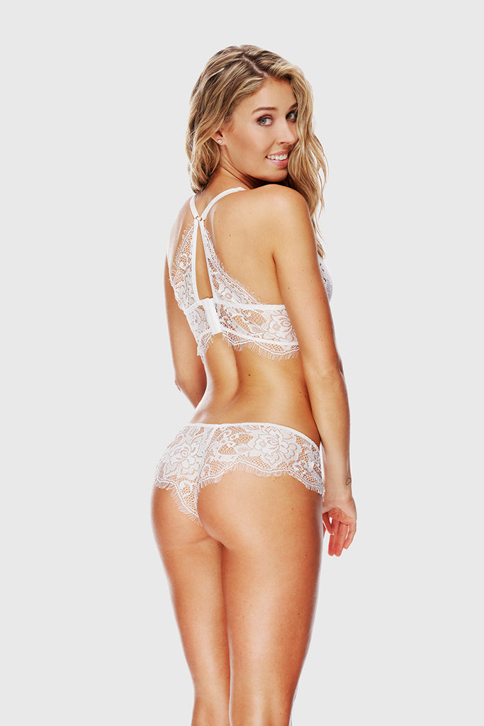 ROMANTIC LACE CHEEKSTER - WHITE