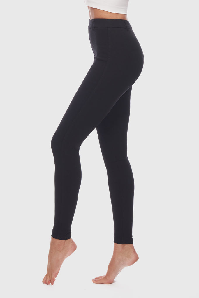 SKINNY HIGH WAIST TREGGINGS - JET BLACK