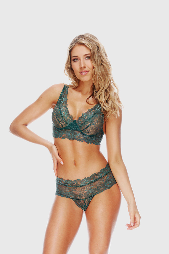 WAISTED CUP BRA - EMERALD