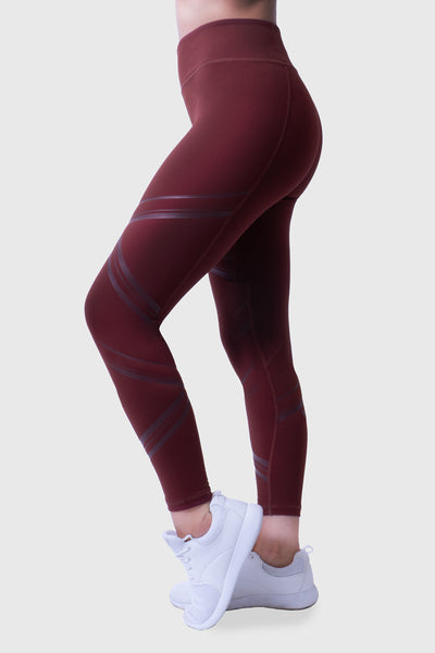 MOTION TIGHTS - BURGUNDY