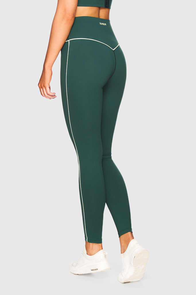 HIGH WAIST V-TIGHTS - EMERALD