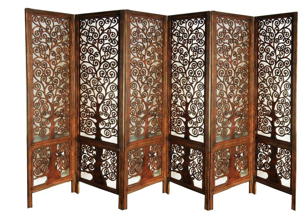 Artesia Handcrafted 6 Panel Premium Quality Wooden Room Partition