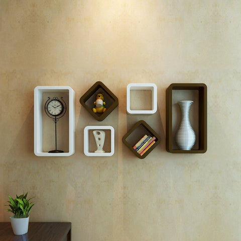 Artesia Brown Wooden Wall Shelves/ Wall Shelf For Home Décor