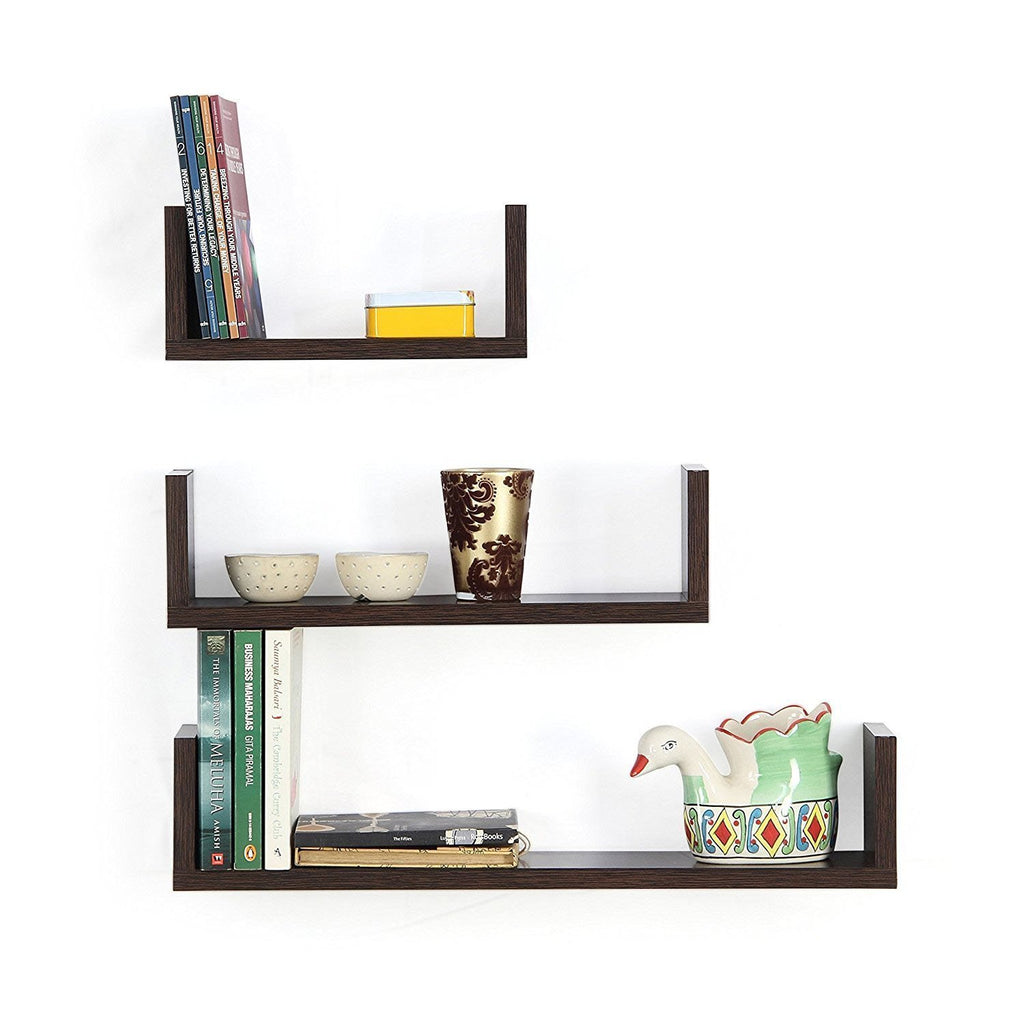 ... Artesia Decorative Wall Shelf With 3 Shelves (Brown) ...