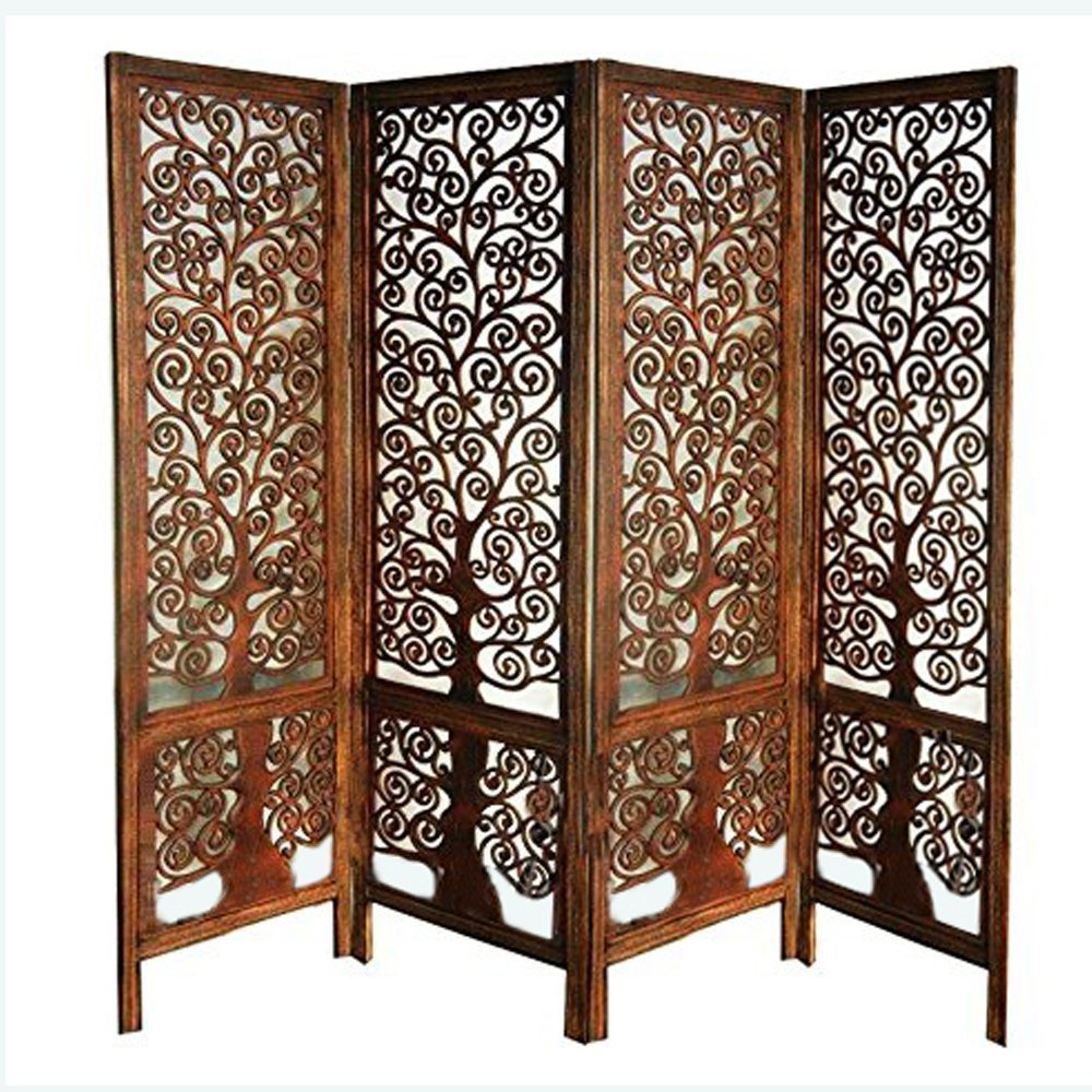 Artesia Handcrafted 4 Panel Premium Quality Wooden Room Divider