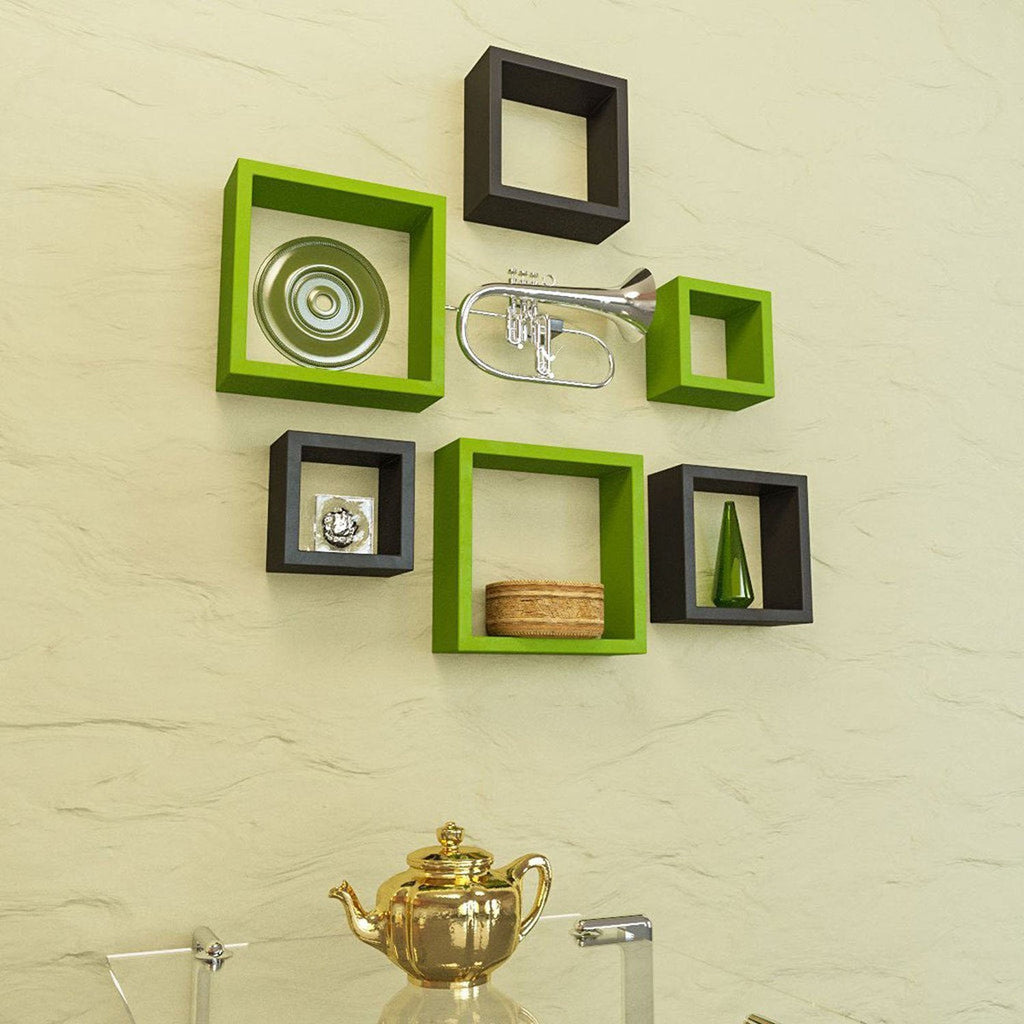 Artesia Decorative Wooden Shelves 6 Pcs Set – Artesia Shop