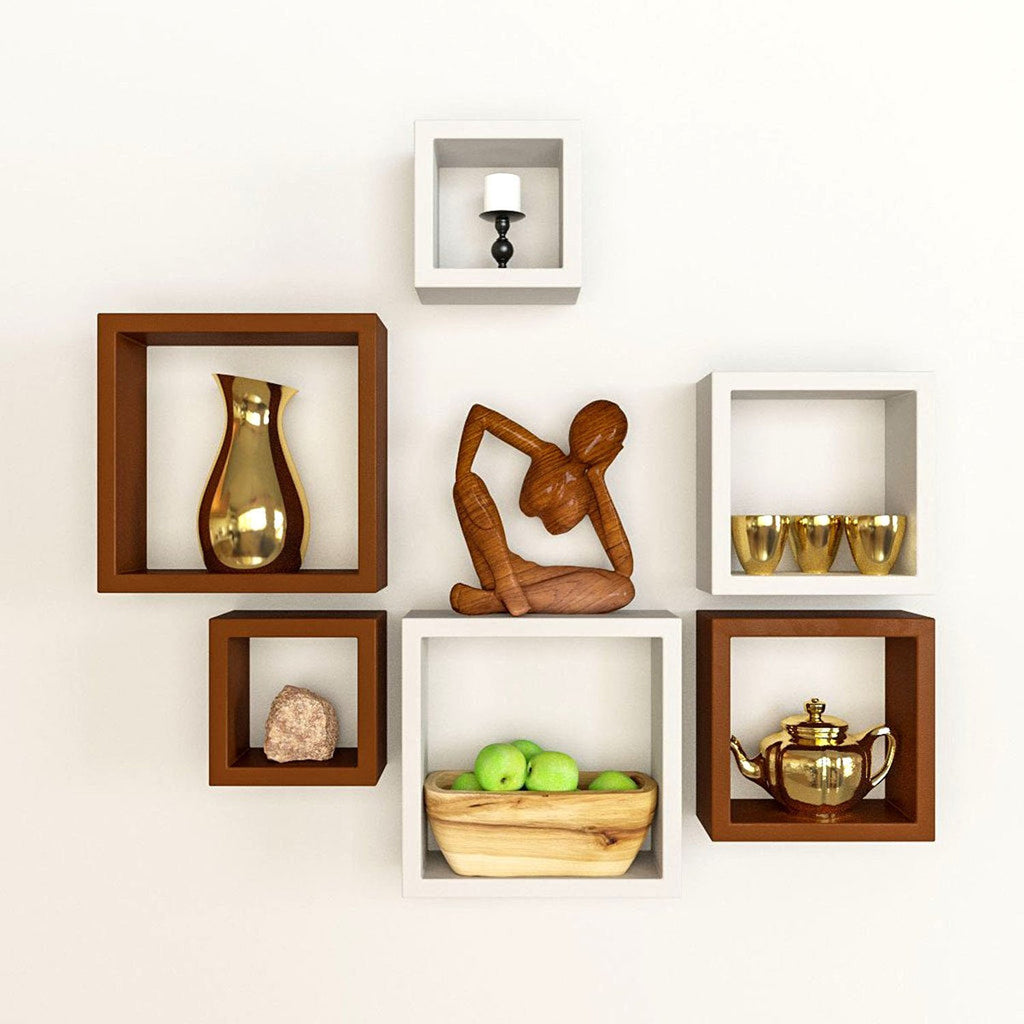 Wonderful ... Artesia Decorative Wooden Shelves 6 Pcs Set ...