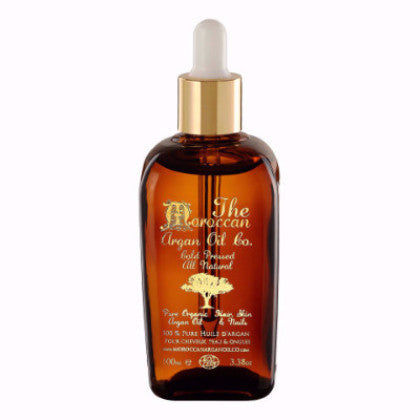 MOROCCAN ARGAN OIL ORGANIC 100% PURE COLD PRESSED COSMETIC WITH DROPPER 100ML - Moroccan Argan Oil Co.