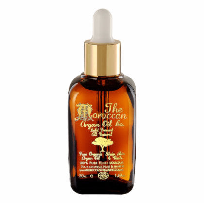 MOROCCAN ARGAN OIL DROPPER 50ML - The Moroccan Argan Oil Co.
