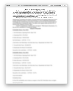 ACC 562 ACC562 Homework Assignment 2 Case Study - Strayer