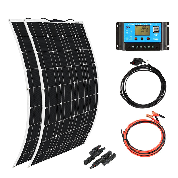 Solarparts 200W 12V  Flexible Solar Panel Kit