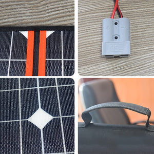 Solarparts 12 Volt 330 Watt Portable Folding Solar Charger