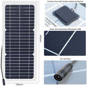 Solarparts  Flexible Solar Panel  System kit 10w 12v