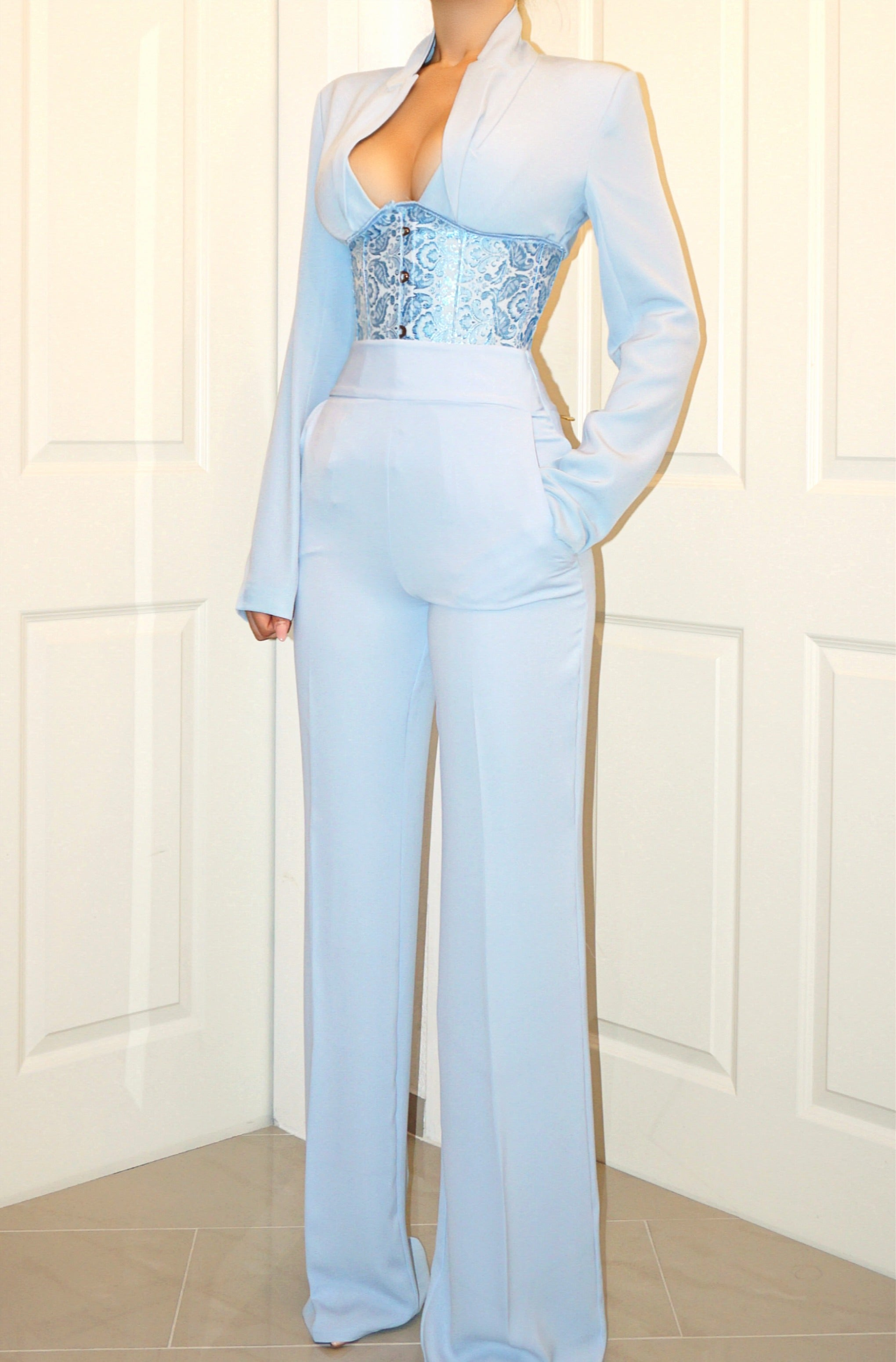 LIGHT BLUE TROUSER