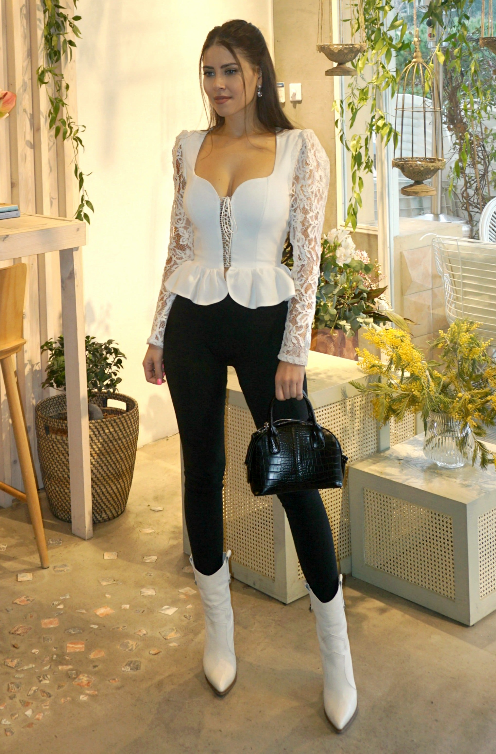 LACE TOP ECRU