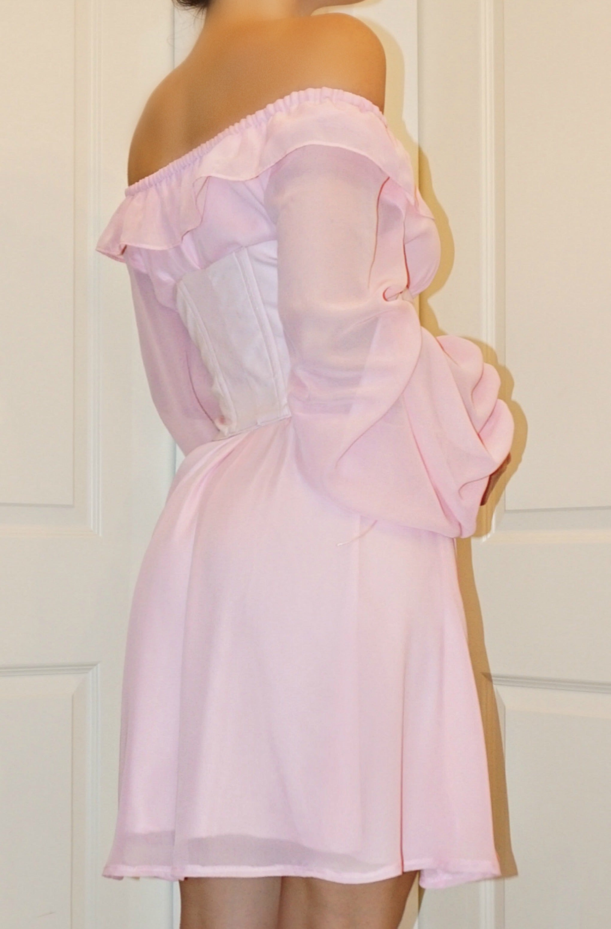 "DRESS & CORSET ""PINK"""