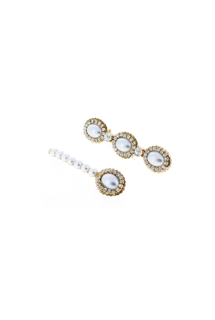 LOUISE PEARL BARRETTE SET