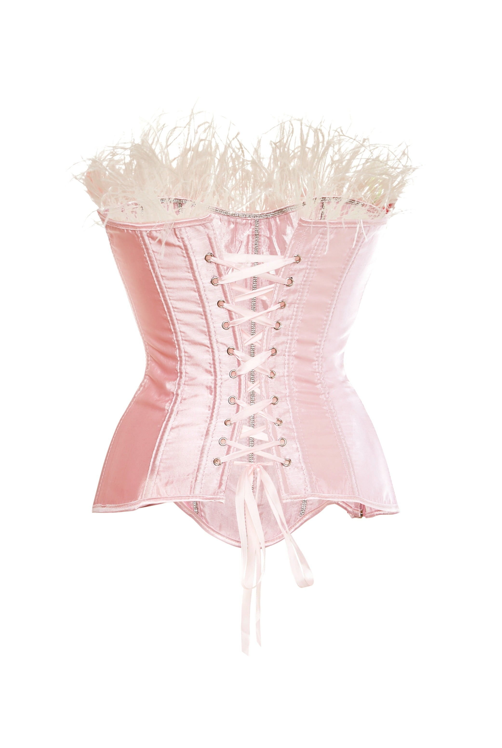 FEATHER CORSET TOP