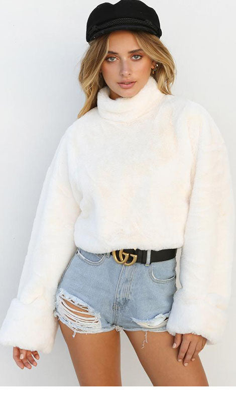 Woollen High Collar Top