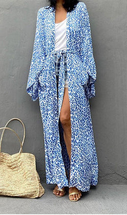 Bohemian Print Cut Out Maxi Dress