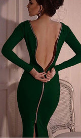 Back Zipper Bodycon Dress, dress, VIVIMARKS