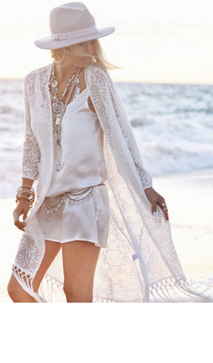 Tassels Lace Cover Up