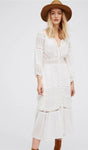 White Lace Front Buttons Dress, dress, VIVIMARKS