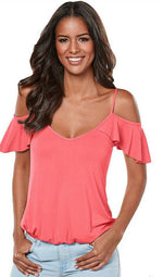 Solid Color Spaghetti Straps Top, top, VIVIMARKS