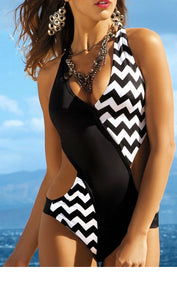 Black And White One Piece Swimsuit, bikini, VIVIMARKS