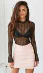 Lace See-through Top, top, VIVIMARKS