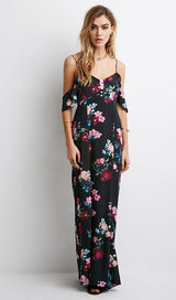 Floral Spaghetti Staps Maxi Dress