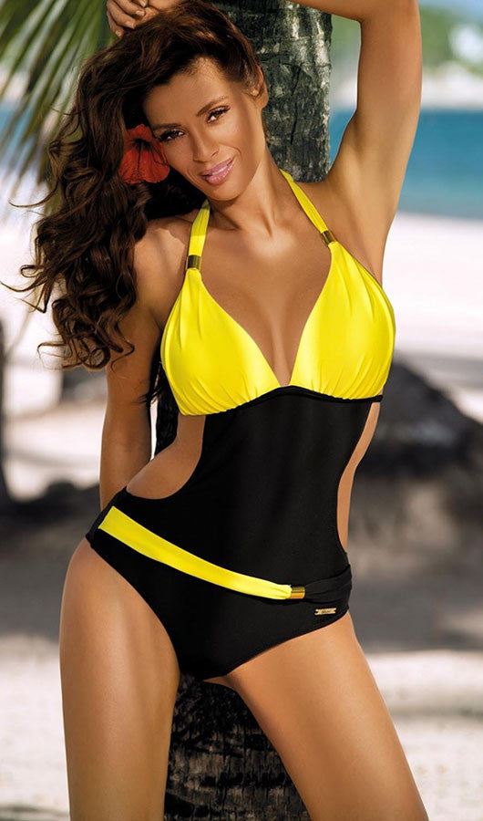 Colorful Halter One Piece Swimsuit, bikini, VIVIMARKS