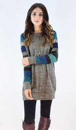 Casual Colorful Stripe Sweatshirt, sweatshirt, VIVIMARKS