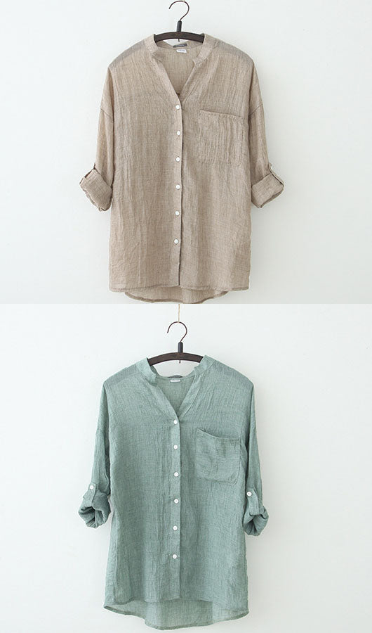 Three Quarter Sleeve Shirt, shirt, VIVIMARKS