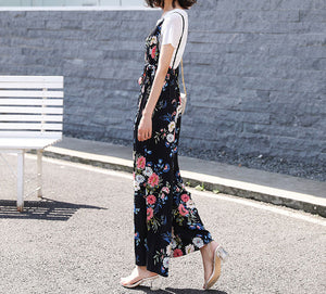Floral Romper And T Shirt Two Pieces Set