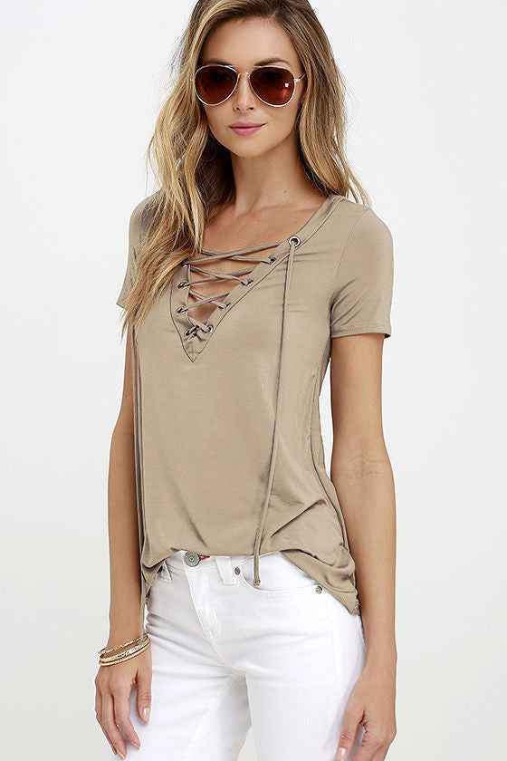 Lace Up Top, top, VIVIMARKS