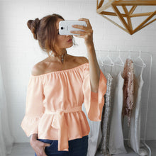 Load image into Gallery viewer, Off The Shoulder Chiffon Top, top, VIVIMARKS