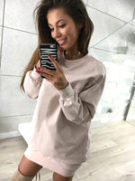 Casual Sweatshirt Dress, , VIVIMARKS