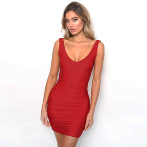 Sleeveless Backless Bodycon Dress, dress, VIVIMARKS