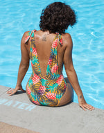 Pineapple Pattern One Piece Swimsuit, bikini, VIVIMARKS