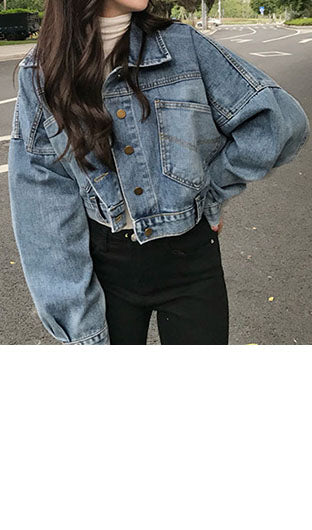 Back Buttons Denim Jacket