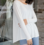Back Slit Long Sleeve Top