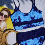 Blue High Waist Bikini Set