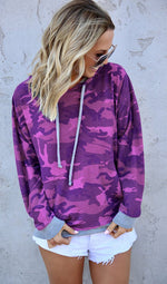 Camouflage Hooded Sweatshirt